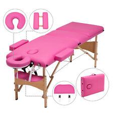 "3 Fold Portable Massage Table 84""L Facial Spa Bed 2 Pillows+Cradle+Sheet&a mp;Hanger"