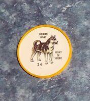 Humpty Dumpty Potato Chips Dogs # 24 Siberian Husky yellow coin