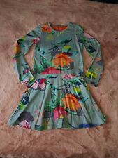 Oilily Girls flower Dress 10 Years designer * WORN 2 OR 3 TIMES*