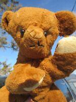 VINTAGE TEDDY BEAR SILK PLUSH 195OS HAPPY SMOOCH TOY GUND RUSHTON KNICKERBOCKER