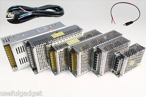 AC-DC 12V 5A 10A 15A 20A 30A Switching Power Transformer Supply Plug Pigtail lot