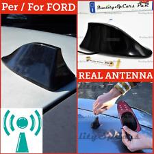 ANTENNA PINNA SQUALO Nera PER Ford Fiesta Adesiva VERA Ricezione RADIO AM-FM-DAB