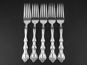 Set 5 x Dinner Forks Interlude 1971 International Silver Silverplate