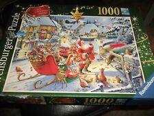 Ravensburger Rare Santas Christmas Supper Jigsaw Puzzle Game 1000 Pieces