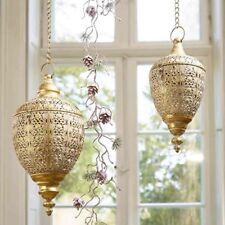 Florissima Hängendes Windlicht aus Metall in Gold mit Glaseinsatz Weihnachten