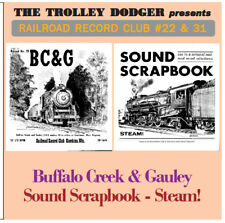 Buffalo Creek and Gauley - Vintage 1950/60s Steam Train Audio CD - RRC #22 & 31