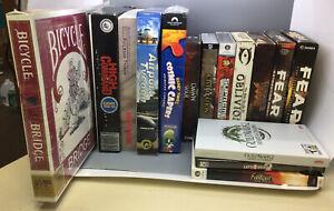 PC Box Games - Lot Of 16 - Fallout: New Vegas, Elder Scrolls IV: Oblivion, Etc.