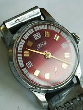 Rare soviet POBEDA ZIM watch Awesome RED Dial USSR / CCCP *SERVICED*