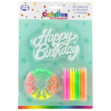 ALPEN Happy Birthday Candles With Plaque 1ea X 12