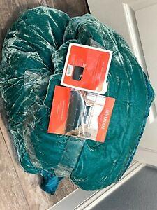 Opalhouse Velvet Tufted Quilt Queen/Full Teal Year Round Comfort Boho Victorian