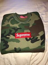 Supreme Camo Box Logo  Crew Neck