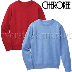 NEW YOUNG BOYS CHEROKEE CREW NECK LONG SLEEVE SWEATER! CLASSIC JUMPER! VARIETY