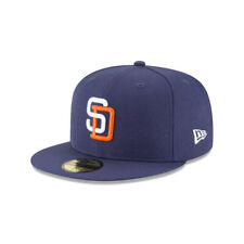 San Diego Padres MLB New Era Authentic Cooperstown 59FIFTY Fitted Hat-Blue