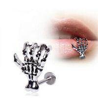 Punk Segment Lip Earring Ear Clip Labret Nose Ring Body Piercing Jewelry Pretty