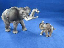 2006 Toy Major Trading Company~ Lifelike Elephant with Calf Figurine Toy Animals