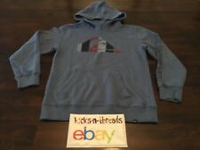 QUIKSILVER HOODED SWEATSHIRT ( BOYS YOUTH MEDIUM ) BLUE PULLOVER PREOWNED
