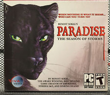 Paradise The Season of Storms Benoit Sokal PC DVD-ROM Video Adventure Game - NEW