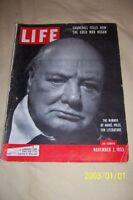 1953 LIFE Magazine Sir WINSTON CHURCHILL Winner of NOBEL PRIZE For LITERATURE