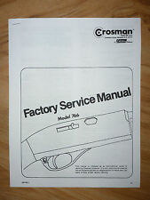 Crosman 766 Service Manual With Exploded View & Parts List