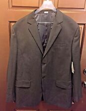 Calvin Klein Brown Pinstripe Wool Blend Men's Blazer NWT - Size XXL