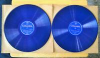"Vintage 12"" 78 Records, Blue Wax Pressing, Beethoven Sonata in D Minor, 2 Record"