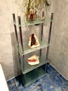 Chrome & Glass Free Standing Cabinet