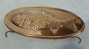 Copper Oval Fish Mold- Hanging Piece