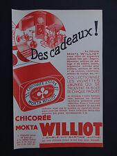 Ancienne Publicité CHICOREE LZ TREFLE MOKTA WILLIOT SABLE-SUR-SARTHE épicerie