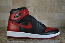 Nike Air Jordan 1 Retro High OG Bred Banned Black Red 2016 555088-001 Size 9