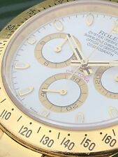 Rolex Daytona 116528 18ct. Gelbgold Full Set Box Papers LC 100 unpoliert Rehaut