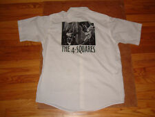 THE 4-SQUARES 'Madman' Vintage Chicago Punk Button-Up Shirt XL 1996 Quincy Shank