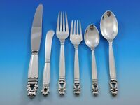Acorn by Georg Jensen Sterling Silver Flatware Set for 8 Service Dinner 48 Pcs