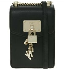 DKNY Authentic Black Leather Cross Body Bag RRP £128
