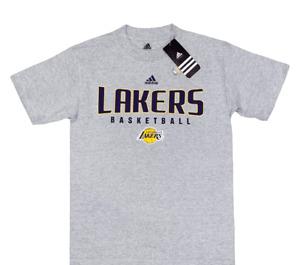 Authentic Men's Adidas Los Angeles Lakers T-Shirt Gray S M L XL