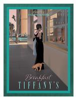 NEW Breakfast at Tiffany's Wall Art Poster Print A4 Audrey Hepburn Glamour