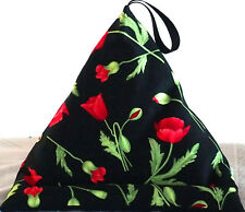 RED POPPY FLOWERS (a) Resting Pillow Cushion holder beanbag Kindle iPad Tablet