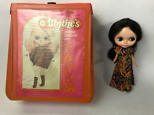 Vintage BLYTHE DOLL Kenner 1972 Brown Hair Eyes WORK! 7 lines Original Dress