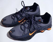 Nike Men Shox Turbo 3.2 SL Running Shoes Size 13 Gray/Orange 455541-080