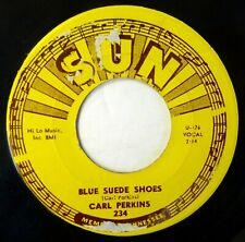 CARL PERKINS 45 Blue Suede Shoes/Honey Don't SUN rockabilly VG++ reissue jf344
