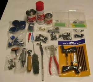 New Starter Tire Repair Kit Patches Shop Supplies Assorted Pieces Carrying Case