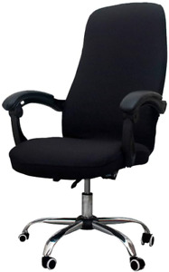 Office Chair Protector Universal Stretch Desk Cover Easily Washable Black New