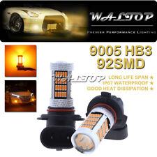 2x 92SMD 9145 9140 H10 Amber Yellow LED Fog Light for RAM 1500 2500 3500 13-2018