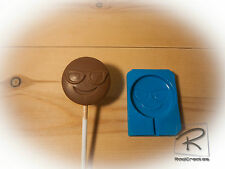 cool/sunglasses Emoji lollipop/sweet/chocolate/cake topper silicone Mould/mold