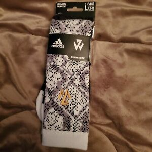 Adidas climalite Traxion crew Socks large white   gray and black
