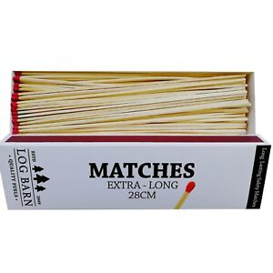 Log-Barn Extra Long Matches 28cm. Thicker Matches to Reduce Snapping.