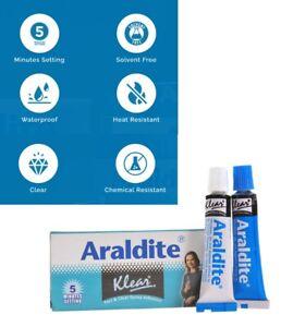 Araldite Epoxy Klear Glue 2 Part With Resin & Hardener 10g 5 Minute setting