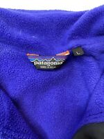 Patagonia Mens Large Fleece Lined Bomber Jacket Coat Made in USA L Black