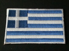 NATIONAL WORLD COUNTRY EMBROIDERED FLAG SEW/IRON ON PATCH:- GREECE (b)
