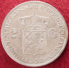Netherlands 2 and a Half Gulden 1932 (E0403)