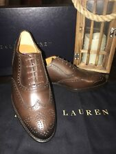 Ralph Lauren Purple Label Shoes Womens 37M Leather Wingtip Oxford Made in Italy